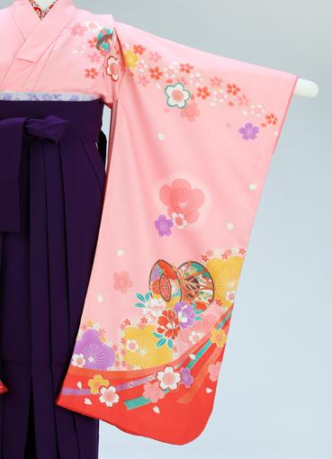 卒園式用 花雅(ピンク) 袴セット