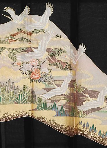 金の雲取り鶴
